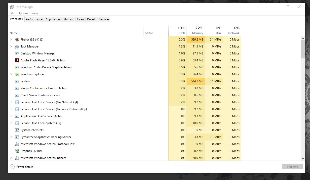Windows 10 Task Manager Utility