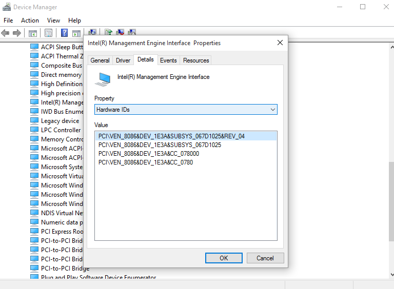 Finding a hardware driver for unknown devices in Windows